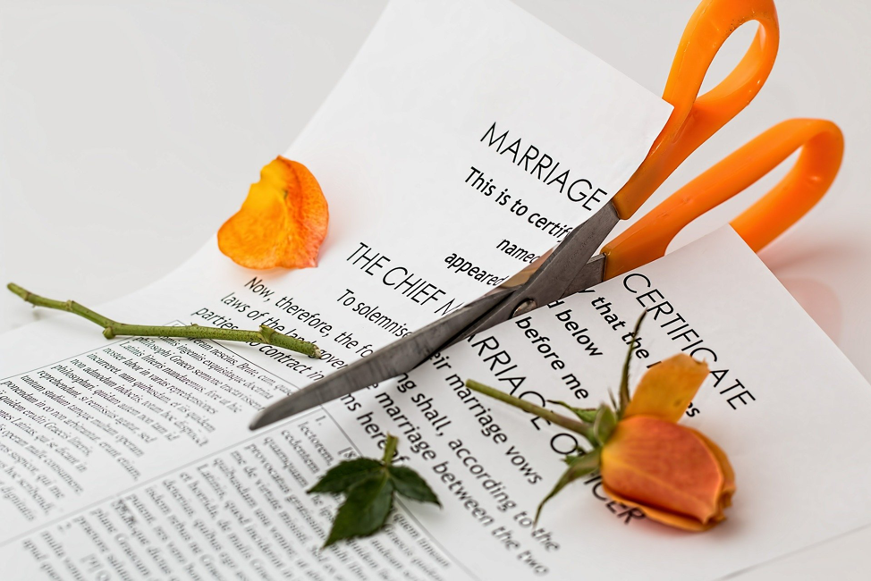 How are assets divided in a divorce?